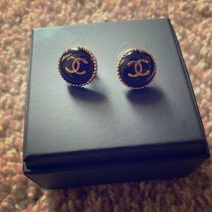 COPY - Black Chanel Earrings